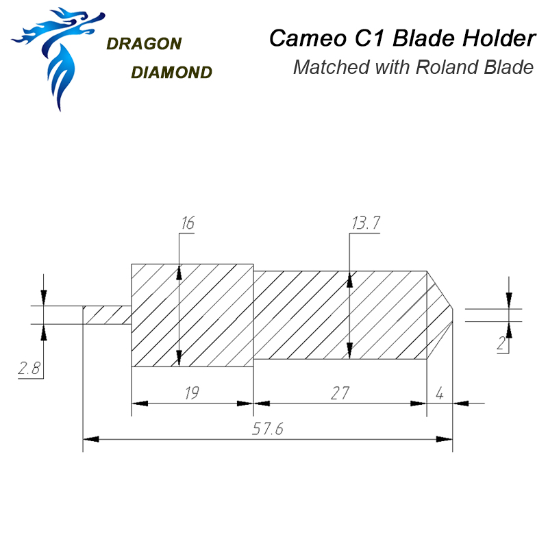 Image 5 - 1pcs For Silhouette Cameo Roland blade Holder Cutter C1 Matched for Cutting plotter Suitable 30/45/60 Degree Roland Cutter-in Milling Cutter from Tools