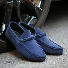 Suede Leather Men Flats 2018 New Soft Men Casual Shoes High Quality Men Loafers Flats Gommino Driving Shoes(China)