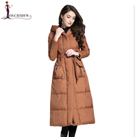4ffa5740690be0 Duck Down Jacket Women High Quality Parkas 2018 Autumn Winter New Coats  Korean Waist Hooded Jacket. US $338.97. Eend Donsjack Vrouwen ...