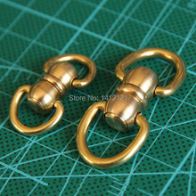 free shipping two style brass swivels D ring lock buckle handmade bag luggage accessories bag hanger diy hardware craft part