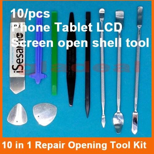 10 in 1 mobile <font><b>phone</b></font> Tablet Repair Teardown Tools Set Disassemble Metal Spudger Nylon <font><b>Opener</b></font> Card Pry Open frame shell Opening
