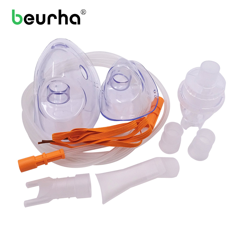 Disposable Atomizer Connecting Soft Pipe Nebulizer Inhaler Mask Kit Health Care Medical Mouth Nose Part Children Adult cofoe hot sale medical home health care portable inhaler mini dog cartoon designed sprayer children adult nebulizer