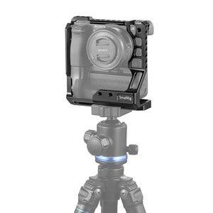 Image 4 - Cage pour appareil photo DSLR small rig pour Sony A6000/A6300/A6500 avec appareil photo Meike MK A6300/A6500 avec Kit de Cage de poignée de batterie 2268