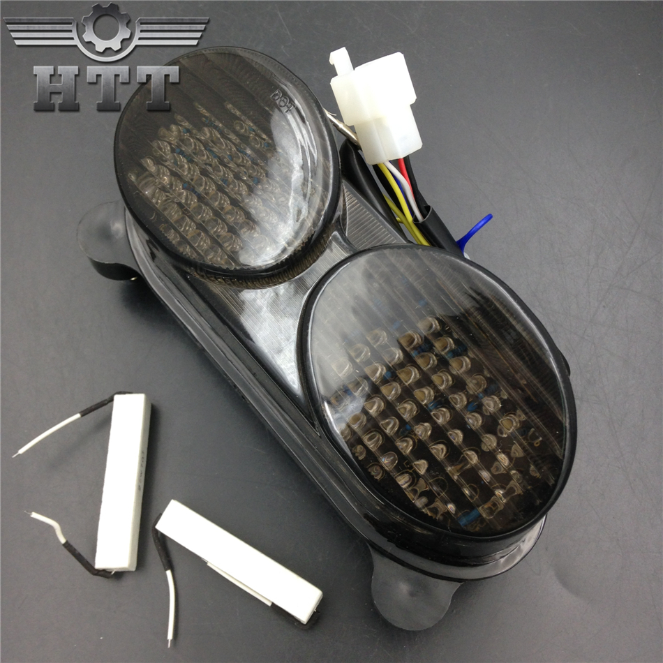 Aftermarket free shipping motorcycle parts LED Tail Light for Kawasaki Ninja ZX-6R ZX600 ZX-9R ZX900 ZR-7S ZZR600 SMOKE aftermarket free shipping motorcycle parts eliminator tidy tail for 2006 2007 2008 fz6 fazer 2007 2008b lack