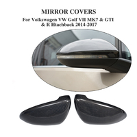 Carbon Fiber Replacement Type Rear View Mirror Covers For Volkswagen VW GOLF 7 VII MK7 GTI