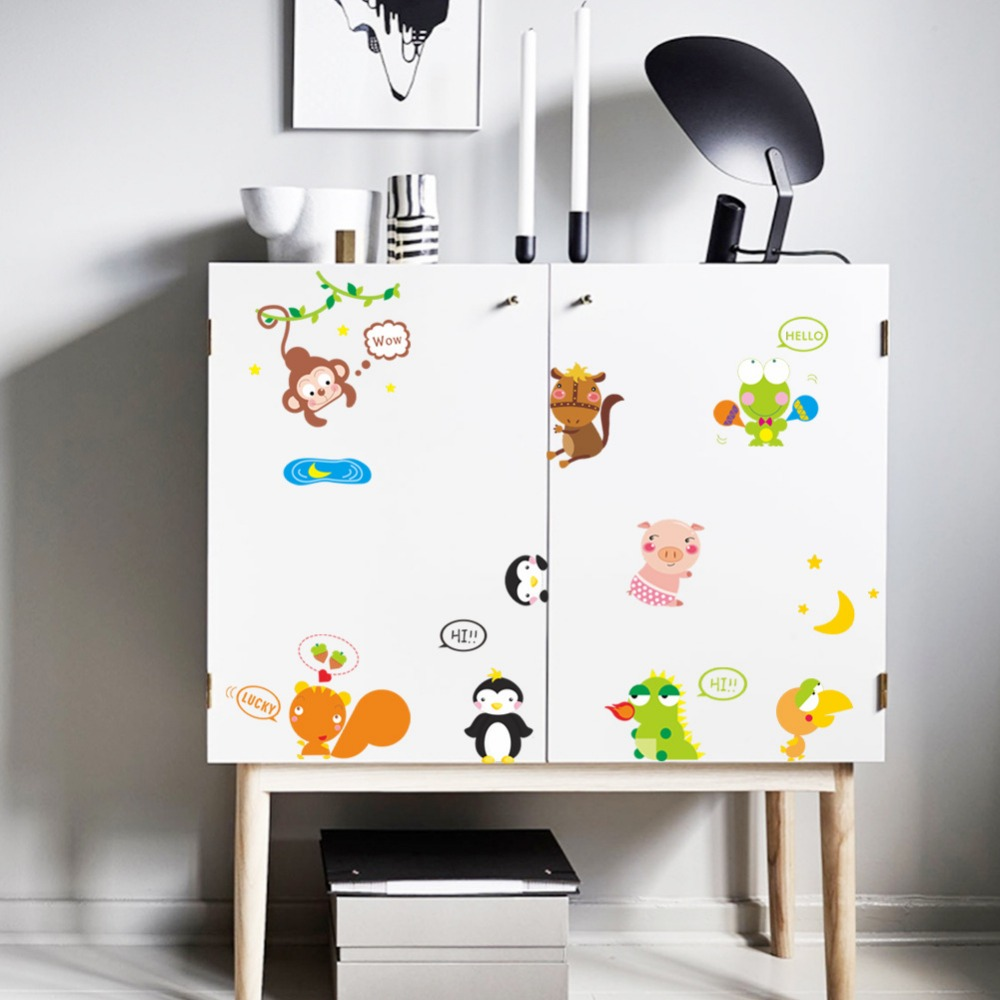 Wall Stickers * 9 Designs Cute Wall Stickers Monkey Whale Sheep Switch Sticker Toilet Wall Decal Vinyl Phone Cup Stickers Home Decor Kids Gift