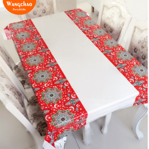 Image 1 - Muslim EID Disposable TableCloths Ramadan Table Cover Tablecloth Waterproof For Moslem Islamism Decoration 180*110cm 3 Styles