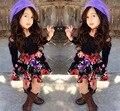 Летний стиль девушки цветка платье Без Бретелек цветочные платья платье принцессы хлопка платья для девочек vestidos infantis