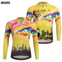 MILOTO Cycling Clothing Couple Cycling Jerseys Tops Maillot Ropa Ciclismo Men And Womens Bike Bicycle Road