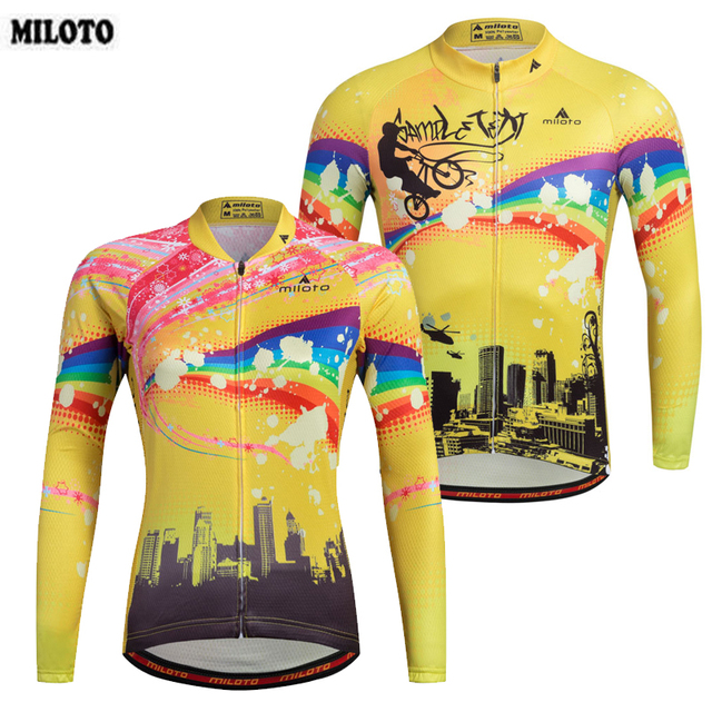 MILOTO Cycling Clothing Couple Cycling Jerseys Tops Maillot Ropa Ciclismo  Men And Womens Bike Bicycle Road Long Sleeve Clothing 5683fcb17