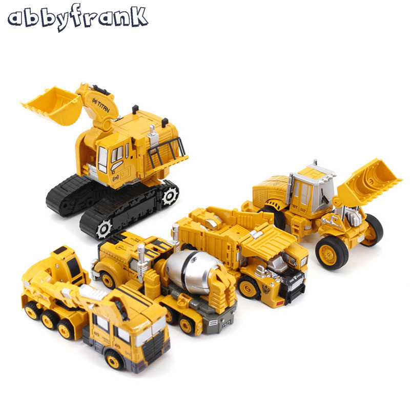 Abbyfrank 5 In 1 Transformation Super Car Alloy Robot Toy Assembly Construction Truck Toys Plastic Engineering Vehicles For Kids in vitro regeneration and genetic transformation of pigeon pea