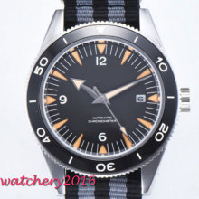 цена 41mm Corgeut Sterile Black Dial Rotating Ceramic Bezel Sapphire Glass Luminous mark Luxury Miyota Automatic Movement men's Watch онлайн в 2017 году
