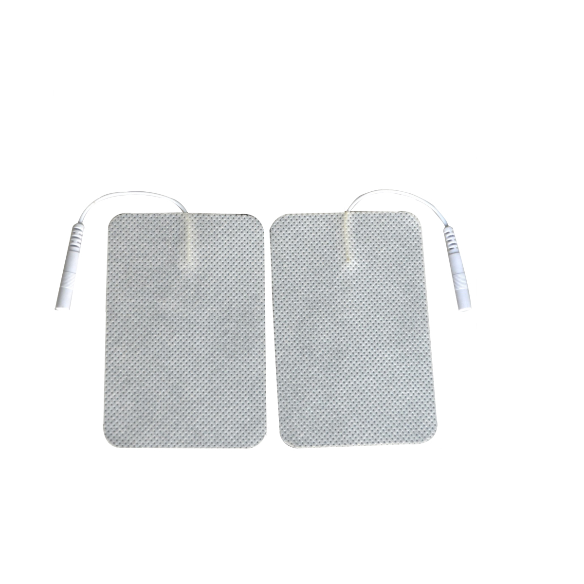 50Pairs/Lot Electrode Connecting Lead Wire Cable Replacement Pads For Tens Therapy Massager Plug 2mm 6x9cm Self Adhesive Gel 50pairs lot emergency supplies ecg defibrillation electrode patch prompt aed defibrillator trainer accessories not for clinical
