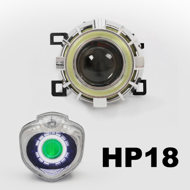 KT Headlight Suitable for Yamaha FZ4N 2004-2009 LED Angel Eye Green Demon Eye Motorcycle HID Bi-xenon Projector Lens 05 06 07 08