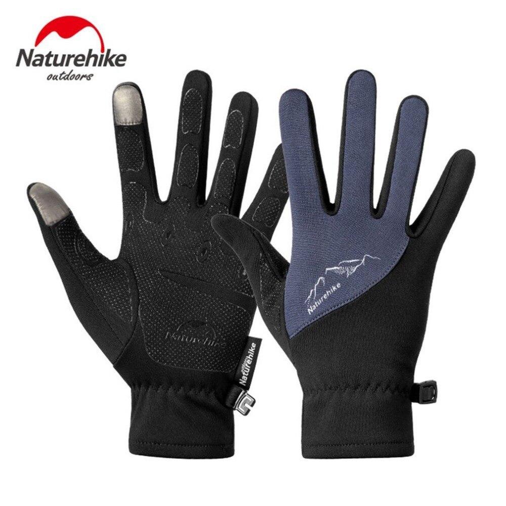 Naturehike Outdoor Sports Gloves Windproof Touch Screen Full Finger Gloves Men Women Men Climbing Cycling Safety Gloves