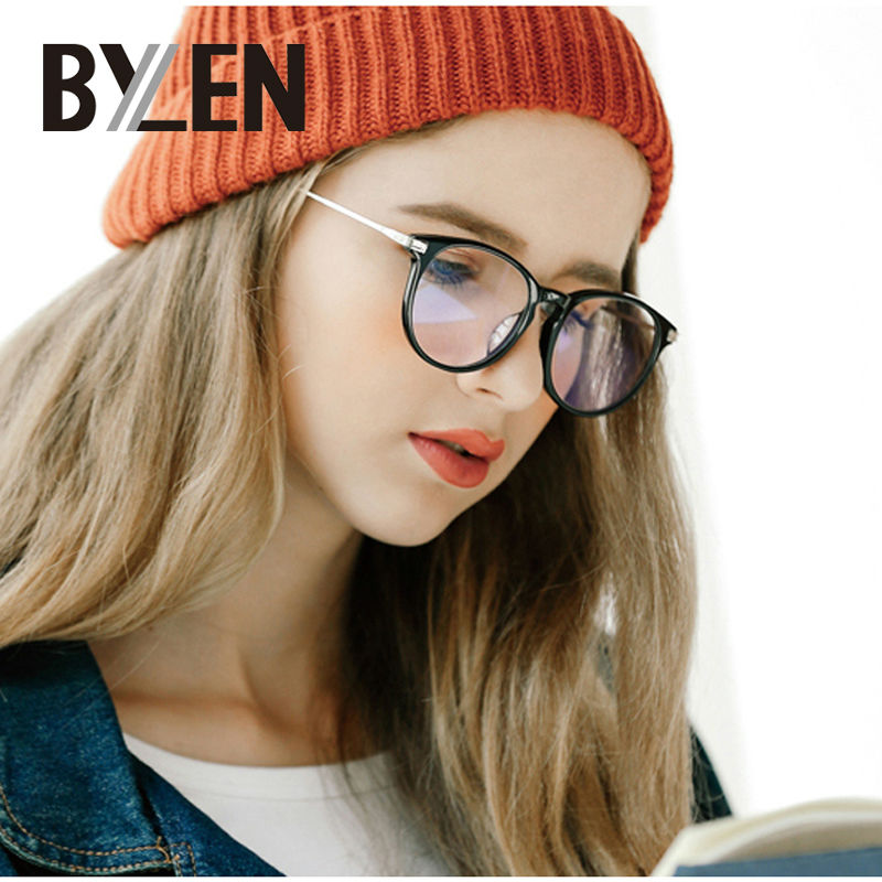Women Glasses Frame Retro Unisex Adults Eyeglasses rammer for menn Brand Optisk Transparent Glass Nerd Vintage Myopia Eyewear