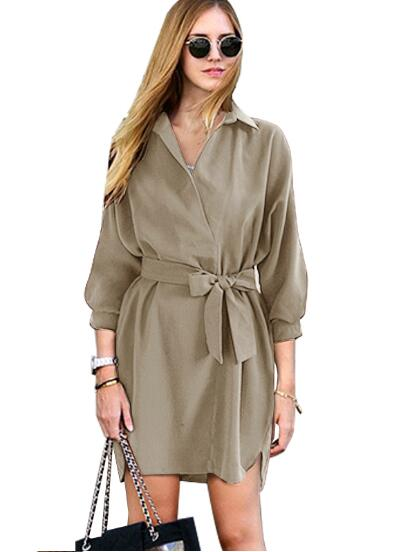 9dd46e44d6b Bow Wrap Dress With Belt Front Bowknot Fashion Mini Short Dress Office  Ladies Smart Casual Women Summer Dress 2016 Elegant-in Dresses from Women s  Clothing ...
