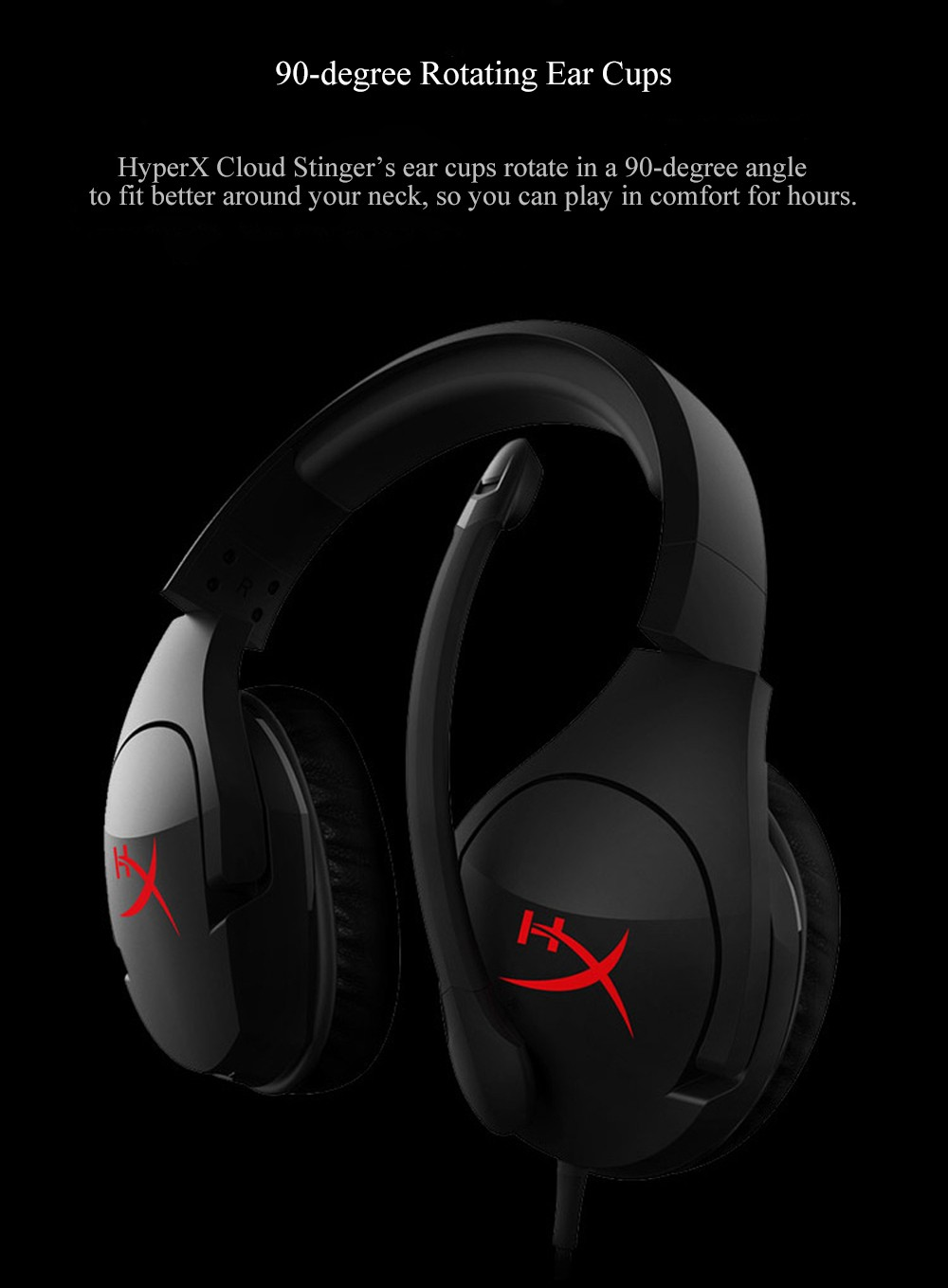 Kingston HyperX Cloud Stinger Auriculares Headphone Steelseries Gaming Headset with Microphone Mic For PC PS4 Xbox Mobile Device (3)