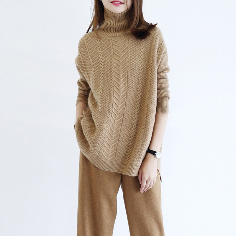 2019 autumn and winter new thick loose cashmere sweater female twist pullover sweater sweater loose women