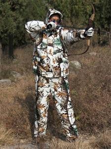 Image 2 - Forro grueso para clima frío forro polar Pino camuflaje nieve abrigo de caza biónico chaqueta y pantalones invierno impermeable Ghillie trajes
