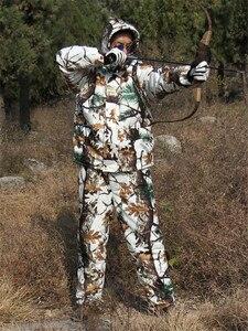 Image 2 - コールド天気厚み裏地フリース松迷彩雪バイオニック狩猟コートジャケットとズボン冬防水ghillieのスーツ