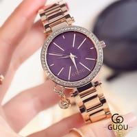 High Quality Girl Watches Relogio Feminino Luxury Brand Women Dress Gold Stainless Steel Quartz Diamonds Clocks