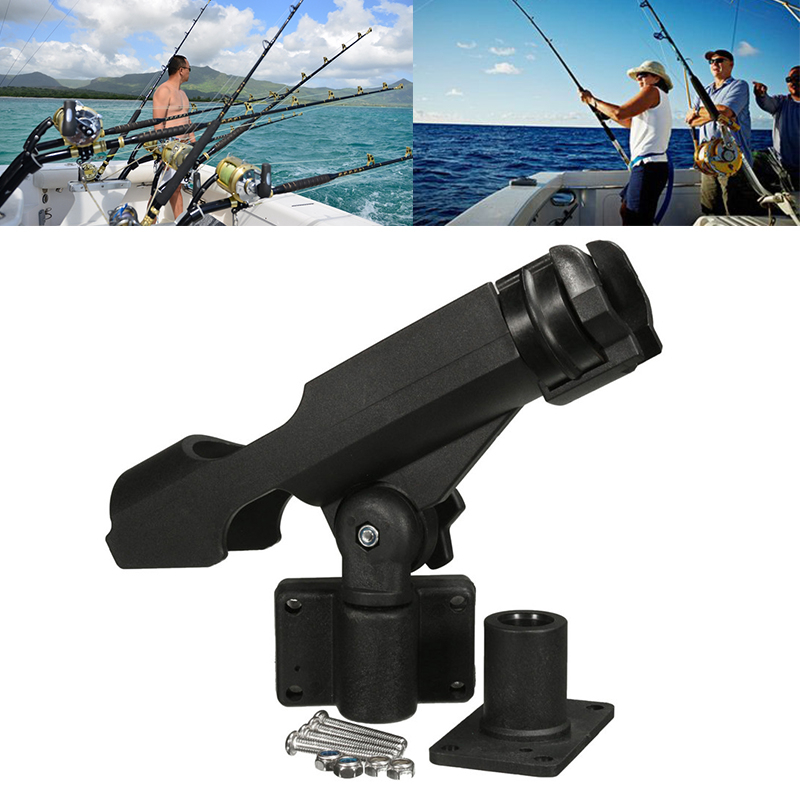 1PCS 2019 Fishing Support Rod Holder Bracket Kayaking Yacht Fishing Tackle Tool 360 Degrees Rotatable With Screws For Boat