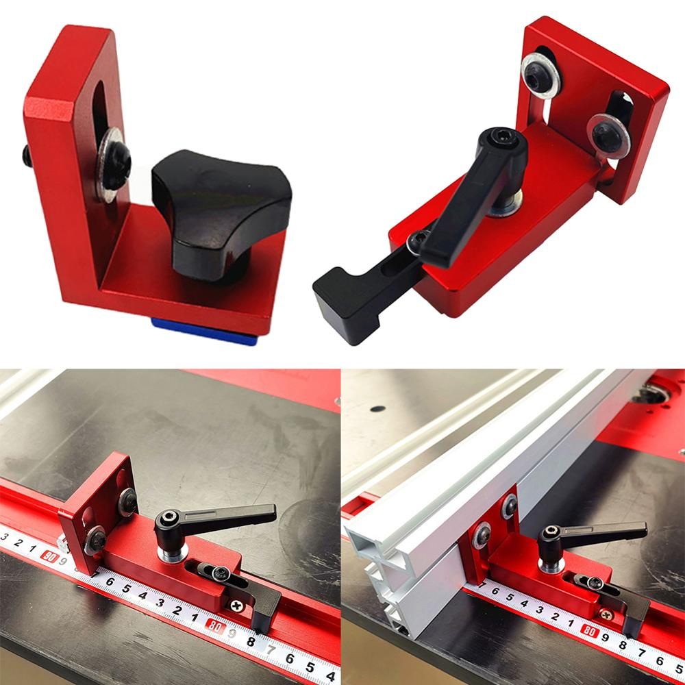 30/45 Type Woodworking Chute Backing Connector T-track Slot Miter Gauge Machinery Part Module Track Stop Locator Rail Retainer