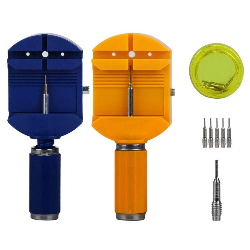 Новое поступление новые часы Ремешок Ссылка Pin Remover Repair инструмент с Голубой пластмассы Материал включая 5 дополнительных булавки