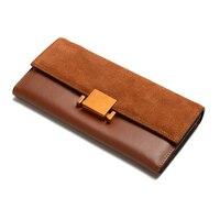 Fashion Brand Women Wallets Genuine Leather Wallet Female Coin Purse Wallet Women Card Holder Wristlet Money Bag Small Bag