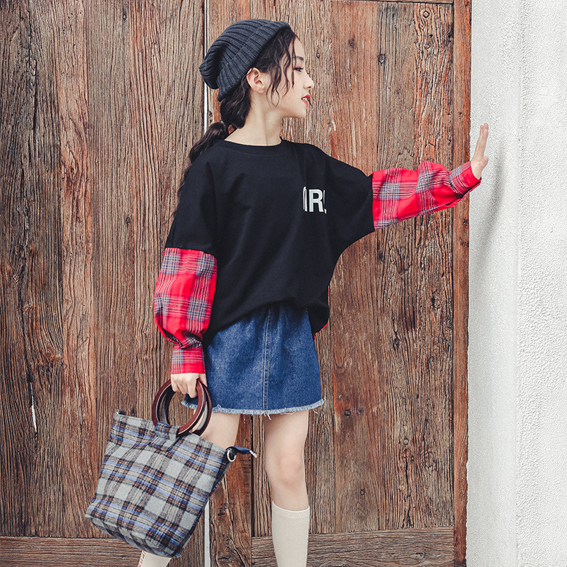 2019 T shirts For A Girl Spring Long Sleeve O neck Cotton T shirt Top Teenager