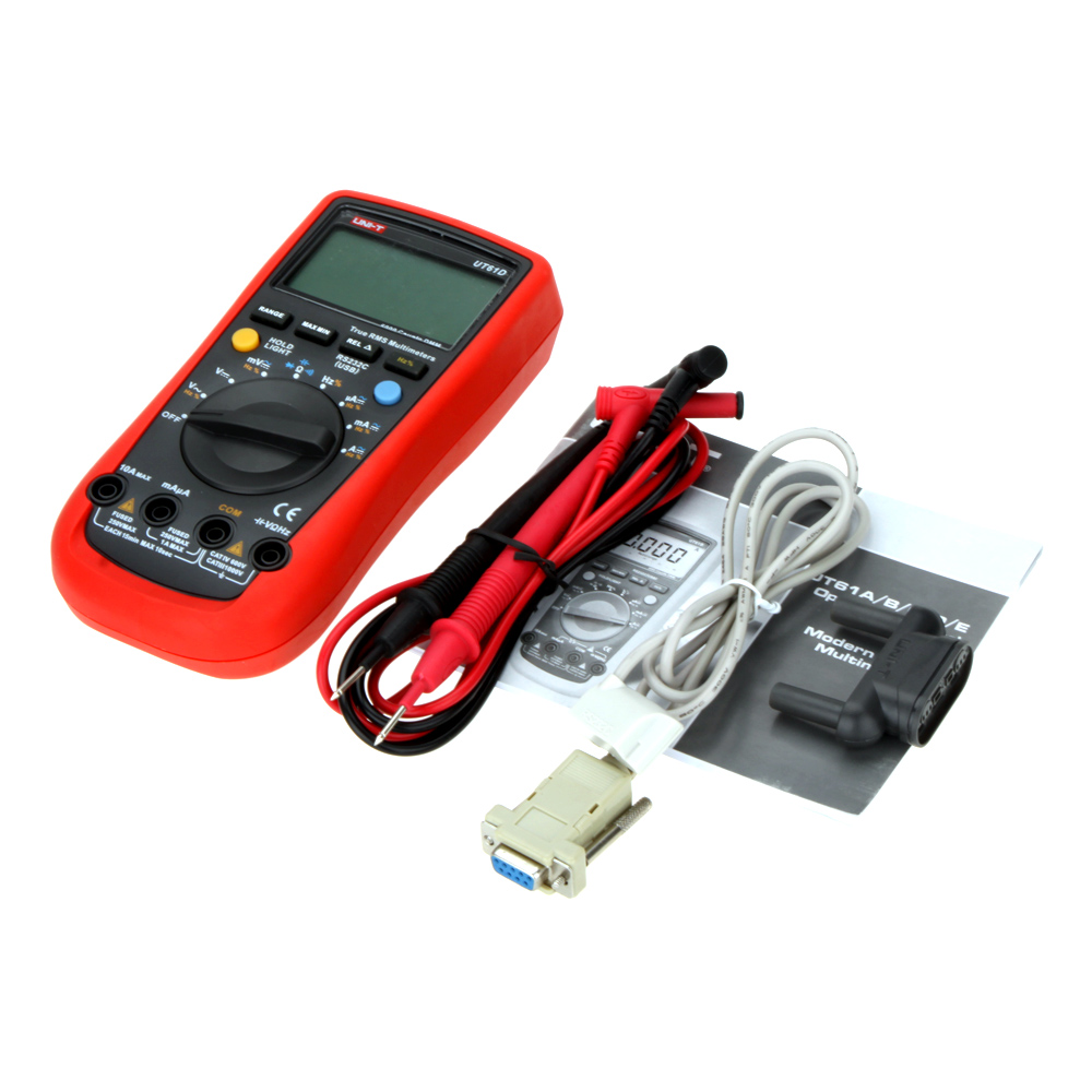 UNI-T UT61D Handheld Digital Multimeter AC/DC Volt Resistance Capacitance Frequency Meter unit ut 61e ut61e digital handheld multimeter tester dmm ac dc volt ohm frq