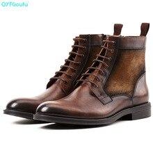 QYFCIOUFU 2019 New Arrival Men Ankle Boots Dress Mens Shoes High Quality Fashion Chelsea Autumn Vintage Martins