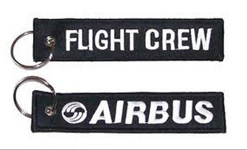 Вышитые брелок Airbus экипаж - Название цвета: RBF Black White