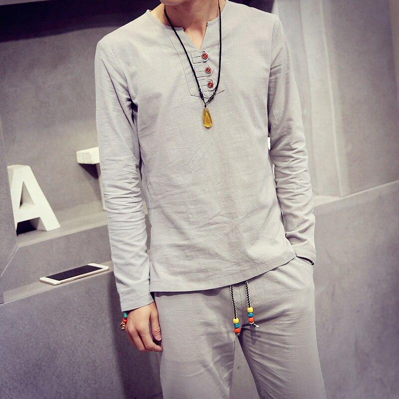 Popular Mens Linen Pants and Shirt Set-Buy Cheap Mens Linen Pants ...