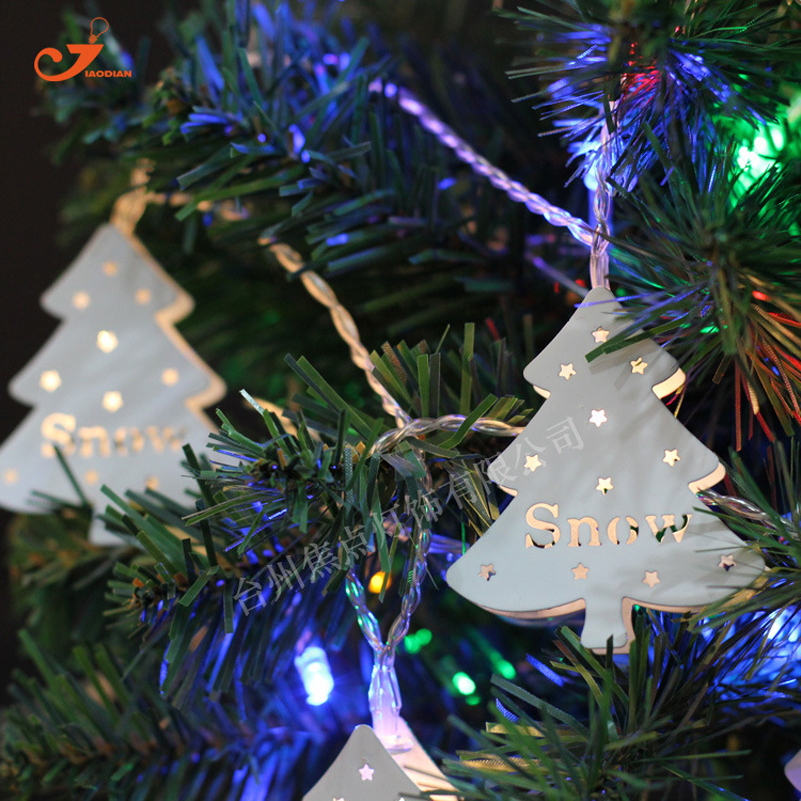10 Leds Metallic Snow Christmas Tree Fairy String Lights String Light Garlands Wedding Festival Party Bedroom