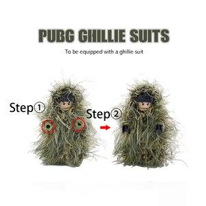 Image 5 - Arme militaire PUBG accessoires pistolet blocs de construction casque Parachute Ghillie costume SWAT soldat brique jouet Compatible armée Legoed