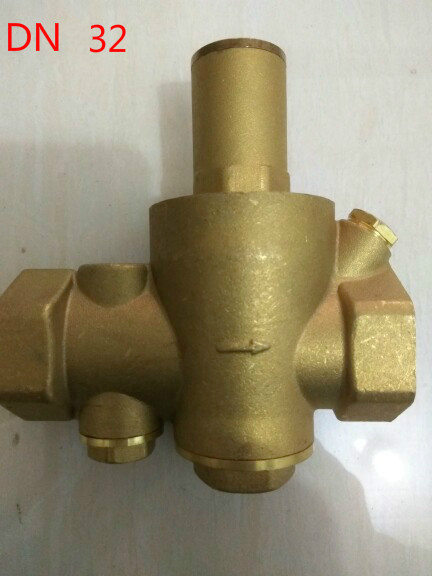 Brass DN32 1 1/4 Water Pressure Regulator Valves Without Pressure Gauge Pressure Maintainig Valve Water Pressure Reducing Valve 2dn50 brass water pressure regulator without gauge pressure maintaining valve tap water pressure reducing valve