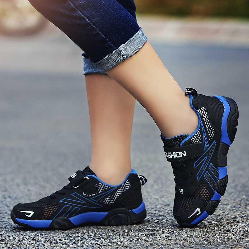 חדש מגניב מקרית נוער בני ילדי נעלי רשת לנשימה ילדים מאמני גודל 28-40 בגיל ההתבגרות סניקרס גדול בני קיץ נעליים