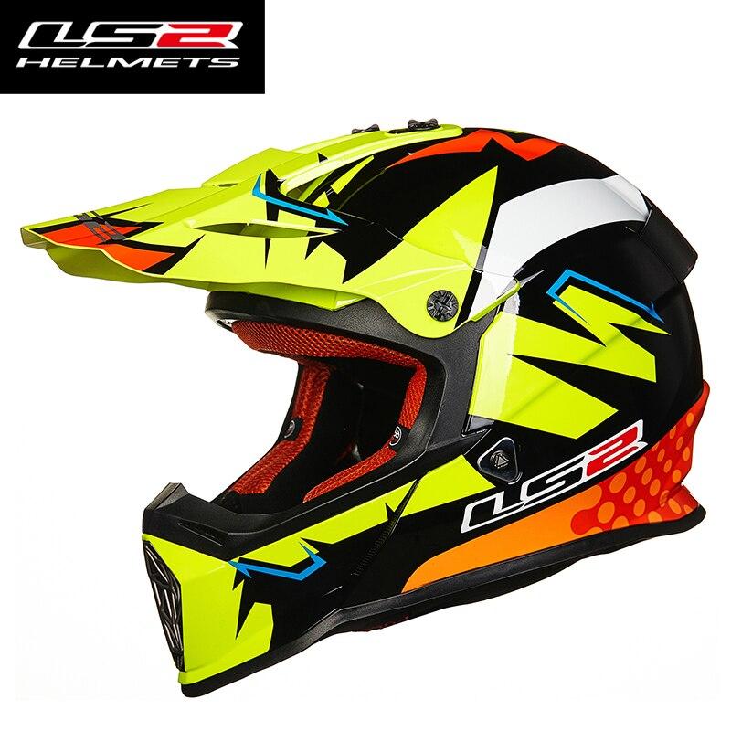 100% Genuino LS2 MX437 casco off road racing motohelmet casque casco capacetes casco del motociclo atv dirt bike motocross casco