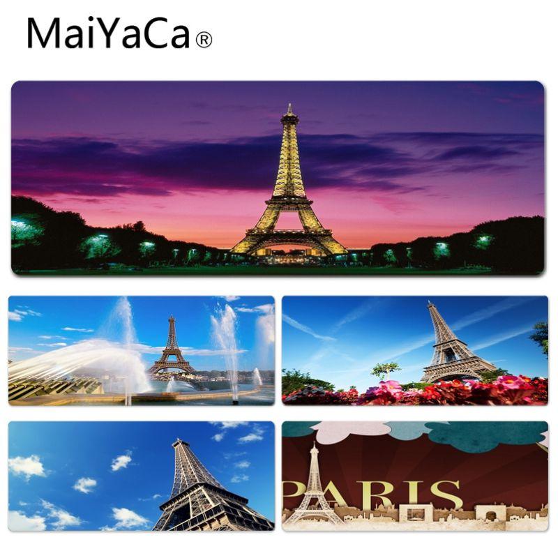 MaiYaCa Boy Gift Pad Eiffel Tower Paris France Durable Rubber Mouse Mat Pad Size for 30x60cm 30x70cm 30x80cm 30x90cm 40x90cm