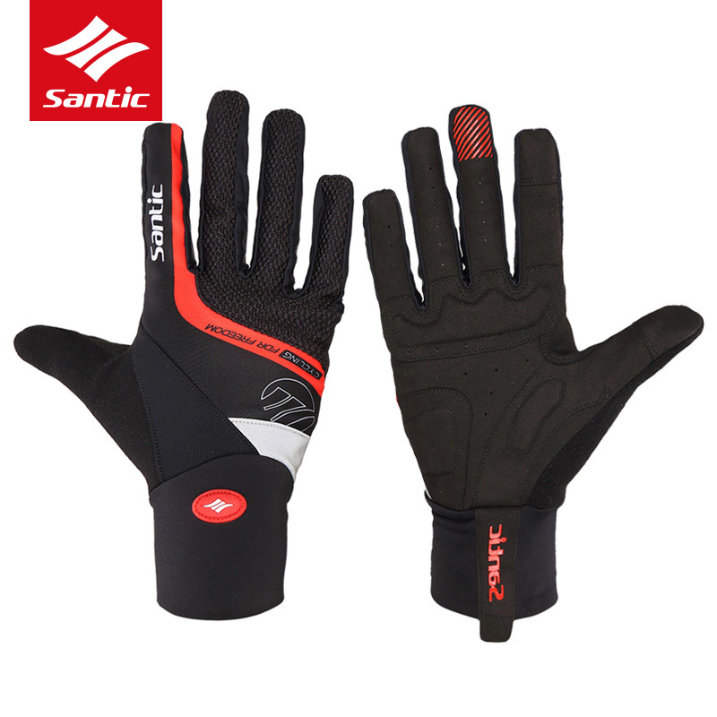 Santic Cycling Gloves Men Full Long Finger Anti-slip Bike Gloves Road Mountain Bicycle Gloves Mittens Luvas Guantes Ciclismo west biking cycling gloves breathable guantes ciclismo luvas sport motorbike motorcycle guantes mtb bike bicycle cycling gloves
