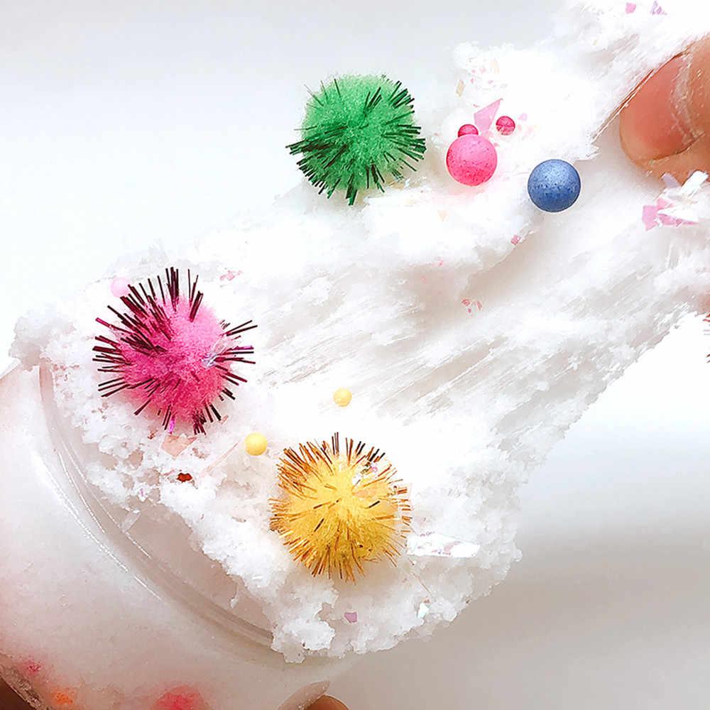 Mistura De lama Bolas Fofo Floam Brinquedos Slime Slime Putty Perfumado Estresse Lodo Argila DIY Claro Para Dropshipping Presente de Natal