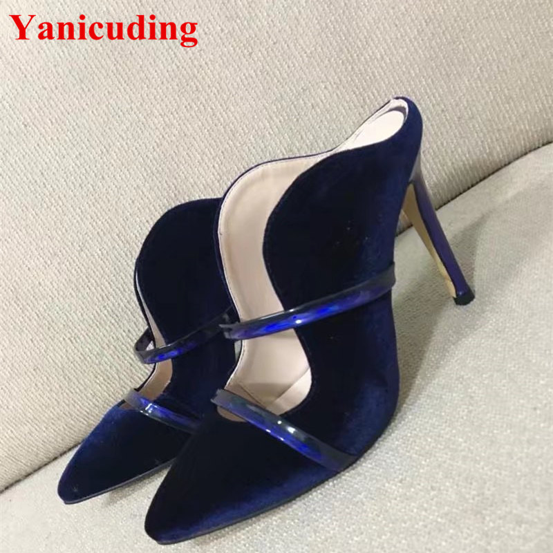 New Fashion Pointed Toe Women Shoes Flock Lady Spring Autumn Outdoor Shoes Luxury Brand Slipper Comfortable Zapatos Mujer Runway new 2017 spring summer women shoes pointed toe high quality brand fashion womens flats ladies plus size 41 sweet flock t179