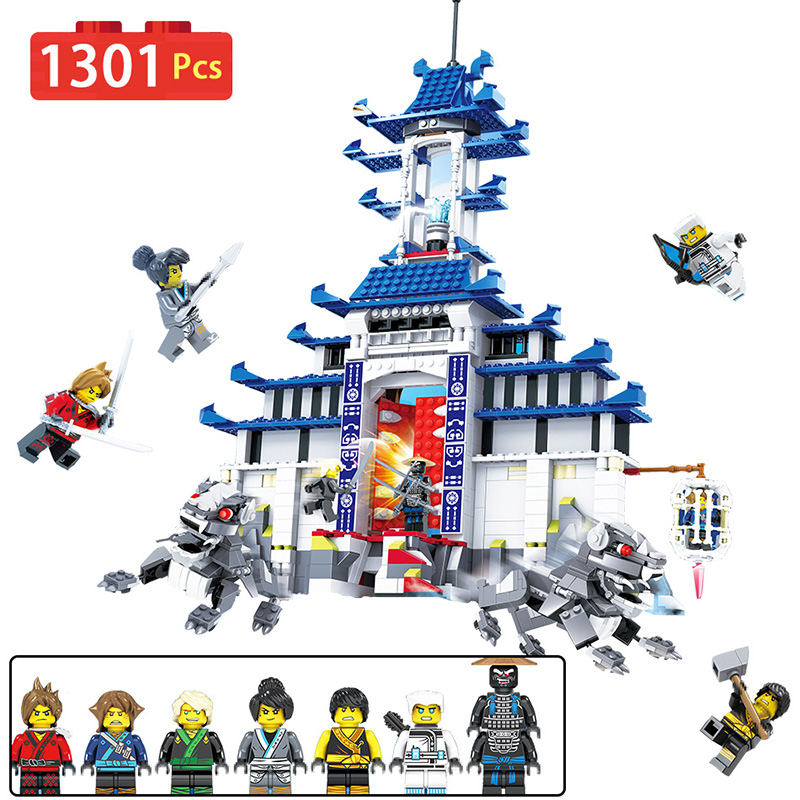 Ninjagoed Movie Fire Mech Model Building Blocks Bricks Temple of The Ultimate Weapon Compatible With LegoINGLYS Kids Toys technic mini legoinglys ninjago movie figures temple of the ultimate weapon blocks stone temple lion toys for children