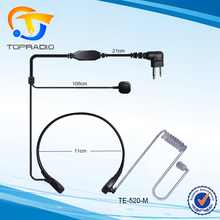 Throat Vibration Headset For Motorola GP300 GP88 Mag One CP040 etc.Air Tube Two Way Radio Earphone Throat Vibration Headset