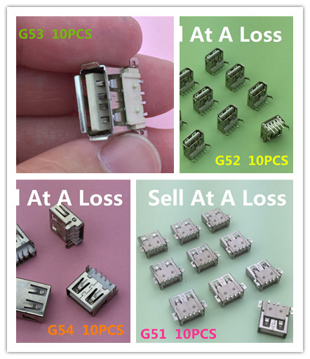 40 unids/lote 4 tipos de conector de enchufe USB 2,0 A para cargador de transmisión de datos de alta calidad se vende A pérdida YT2066