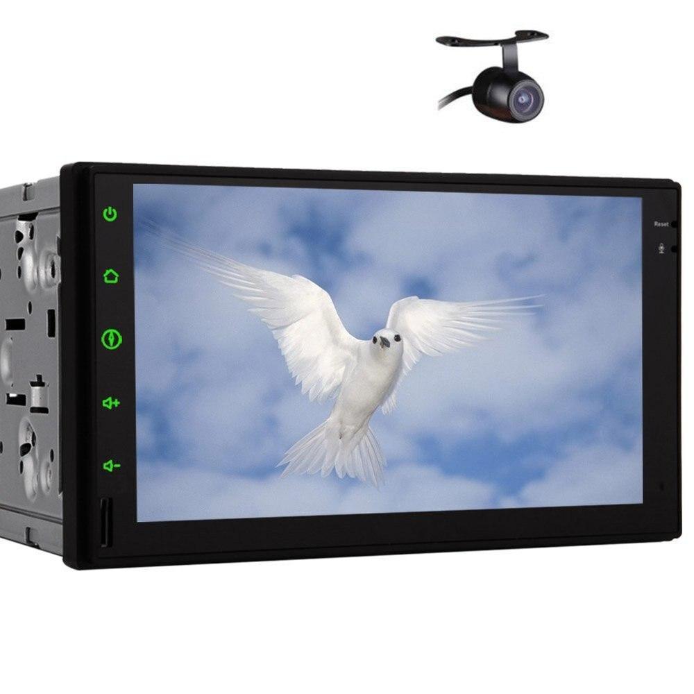 2 Din unité de tête stéréo de voiture 7 pouces tablette sans clé Pure android 7.1 sans lecteur DVD GPS Auto Radio RDS Wifi caméra de sauvegarde Bluetooth