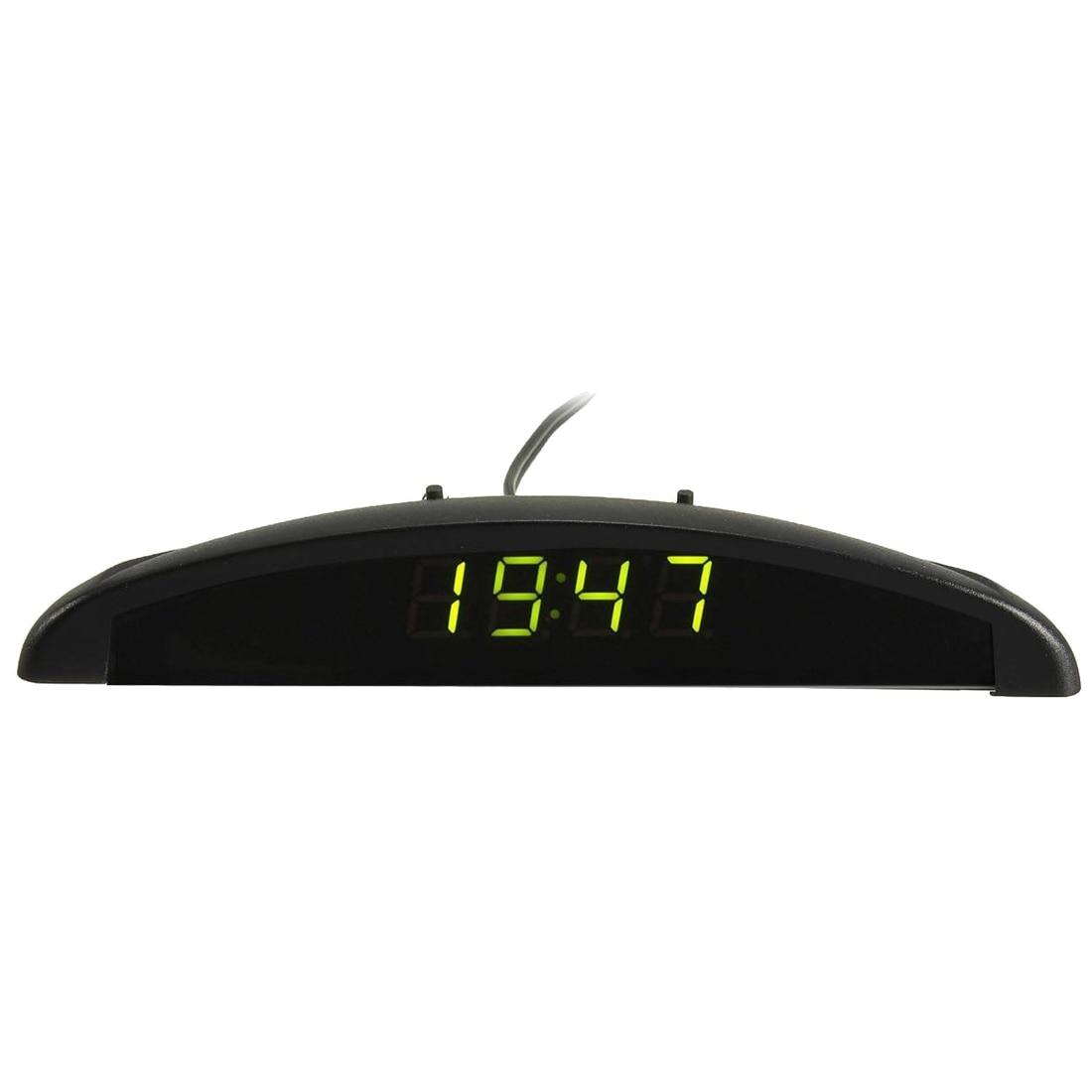 3 In1 Car 12V Digital LED Voltmeter Voltage Temperature Clock Thermometer Car, Green прибор для авто oem 3 in1 12v 24v 68050
