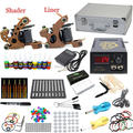 USA Dispatch Pro Complete Beginner Tattoo Kit 2 Machines Guns 10 Color Inks Power Needles Tips Grips Equipment Set supplies
